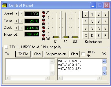 И вы увидите результат правки программы в компиляторе CVAVR в окне вирту